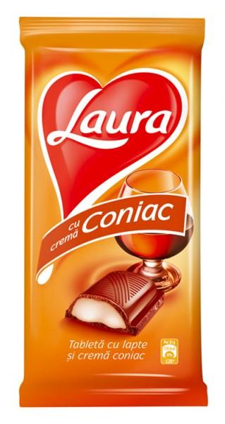 Tafel Schokolade mit Cognac Creme