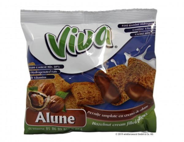 Viva-Snacks mit Haselnusscreme