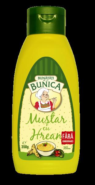 Senf mit Meerrettich (Bunica) 350g