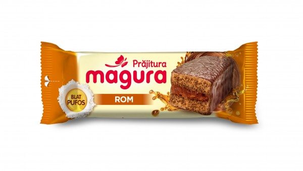 "Prajitura ""Magura"" cu crema de rom"