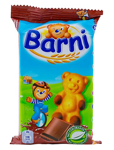 Barni Kuchen mit Schokocreme