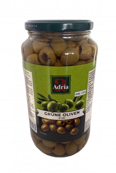 Oliven grün ohne Kern