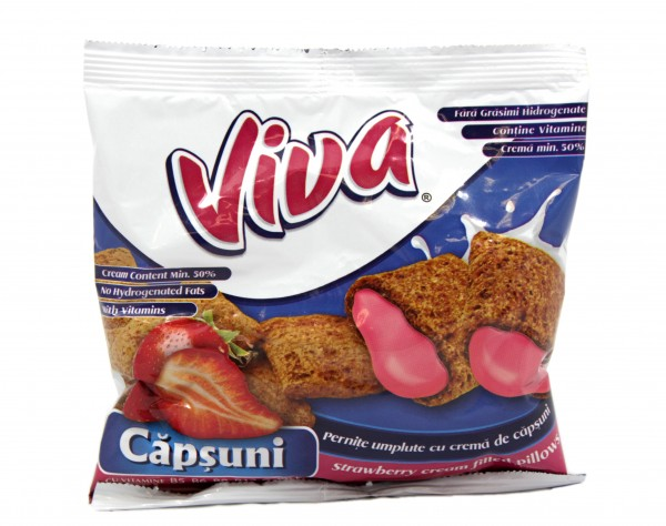 Viva-Snack mit Erdbeercreme