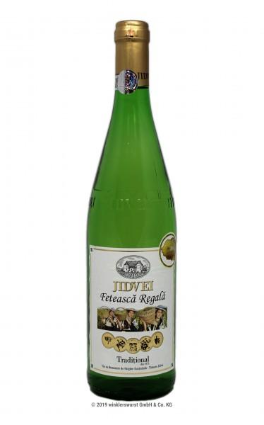 Weißwein (Jidvei Feteasca Regala halbtrocken)