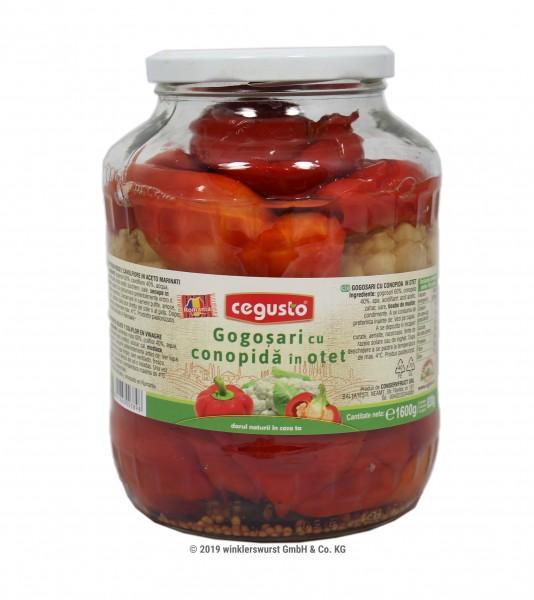 Tomatenpaprika und Blumenkohl in Essig 1600 g