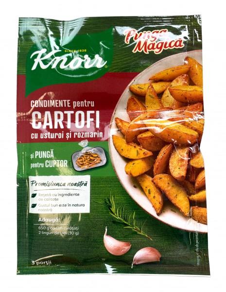 Condimente pentru cartofi cu usturoi si rozmarin - Punga magica