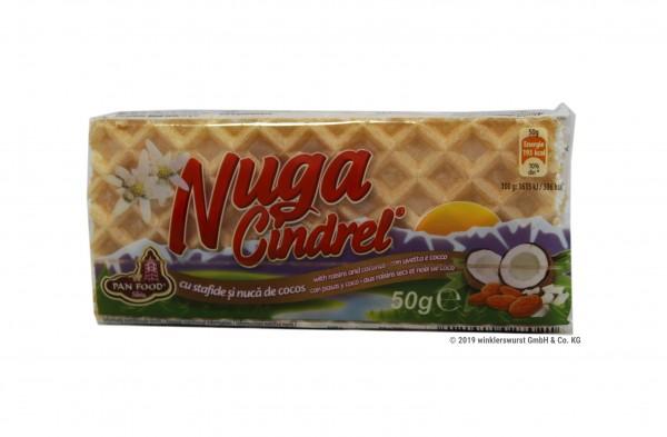 Weißer Nugat mit Kokos und Rosinen