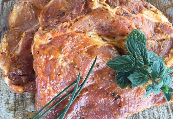 Ceafa de porc in marinata cu piper