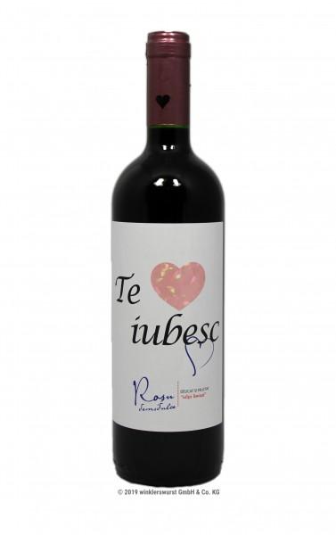 Vin rosu Recas- Te iubesc mult 0,75l